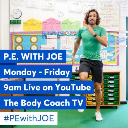 Joe Wicks becomes the nation's PE teacher - and we join in at home ...